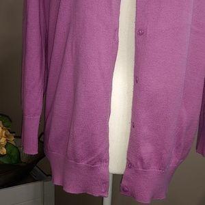 LOFT Sweaters - LOFT Lilac 3/4 Sleeve Cardigan L ( may fit XL)
